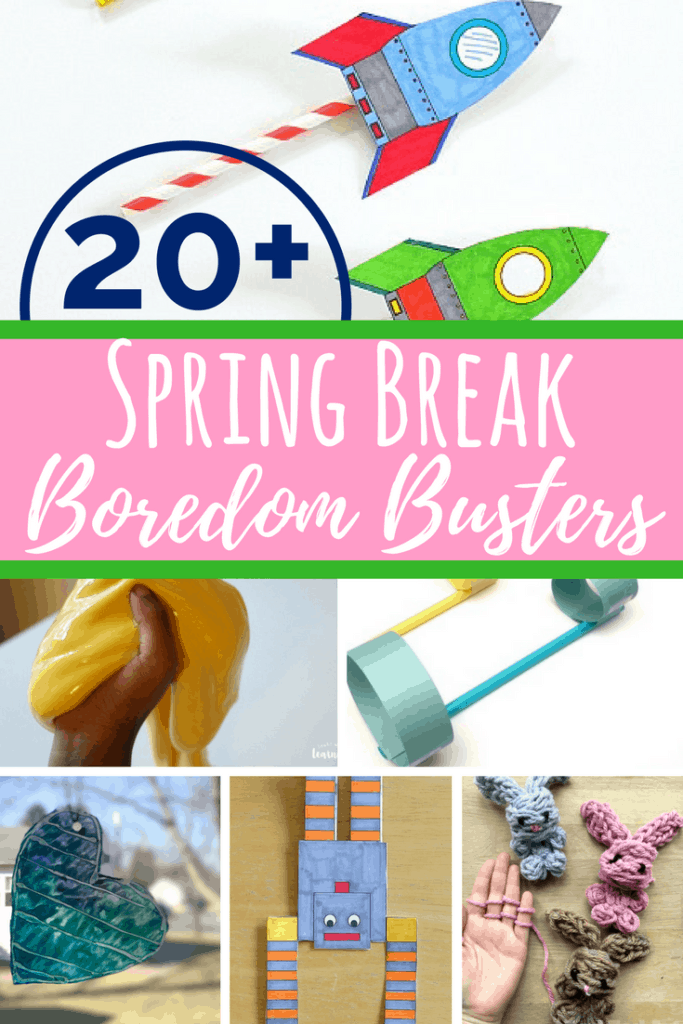Boredom busters that are low-prep and easy. Perfect for big kids during the weekend or while home on break from school. Simple and fun for school-aged kids.