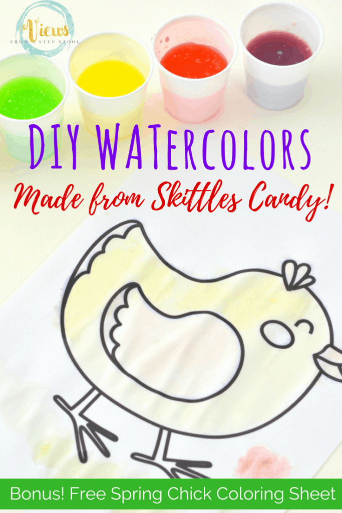These DIY Watercolors Are Made From Skittles Candy Such A Great Way To Use Up