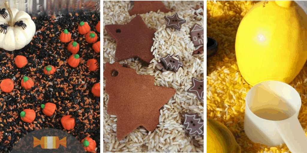 scented rice bin collage 1