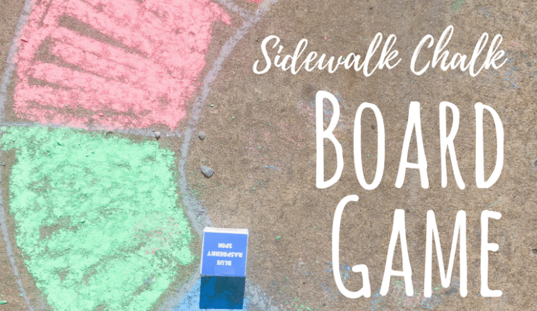 Sidewalk Chalk Board Game for Families