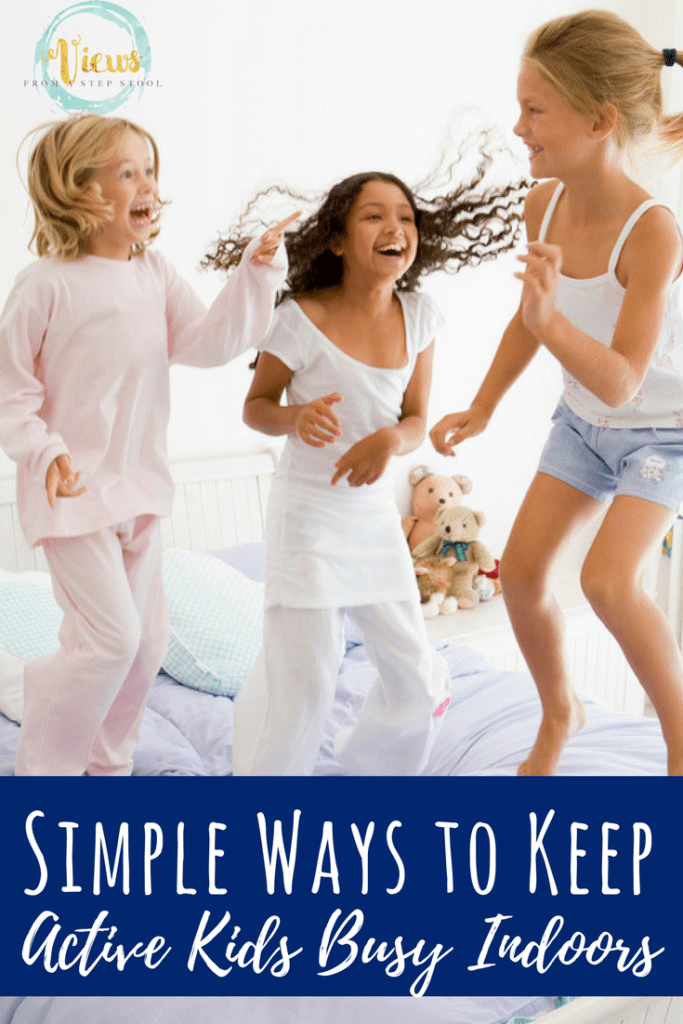 From an Indoor playground that is perfect for small spaces to scavenger hunts and yoga, these ideas will make having active kids indoors simple.
