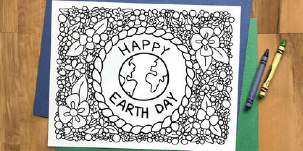 Earth Day Coloring Page For Kids Or Adults Free Printable