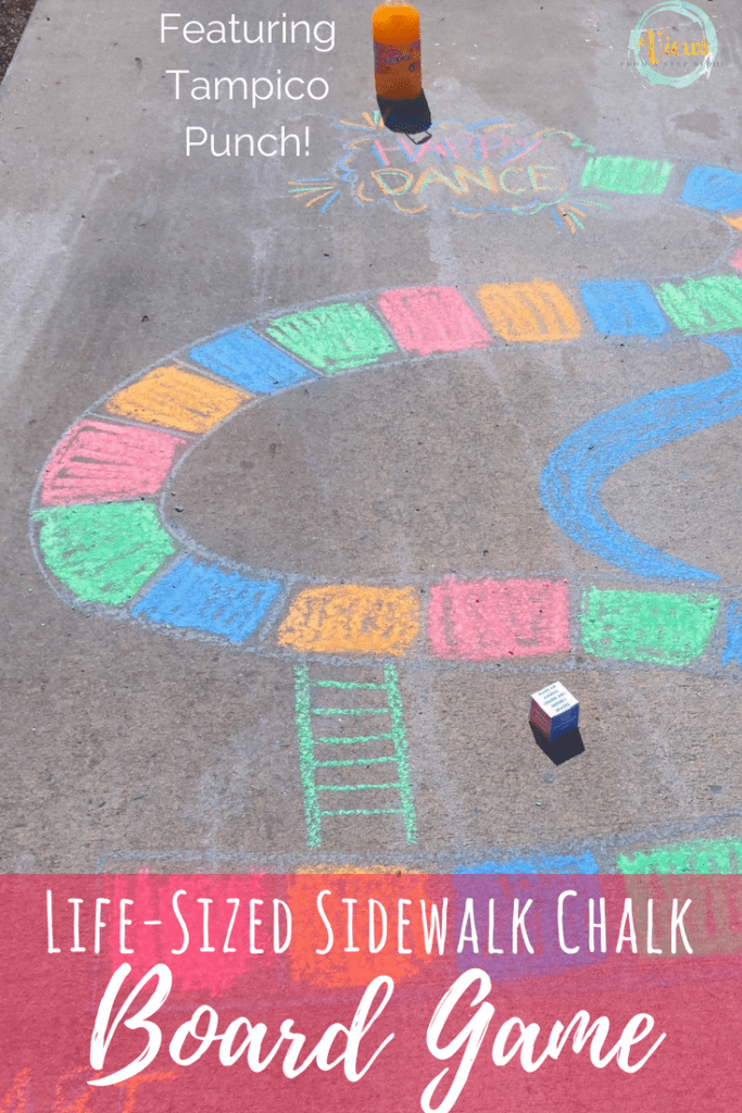 Sidewalk Chalk Board Game For Families Views From A Step