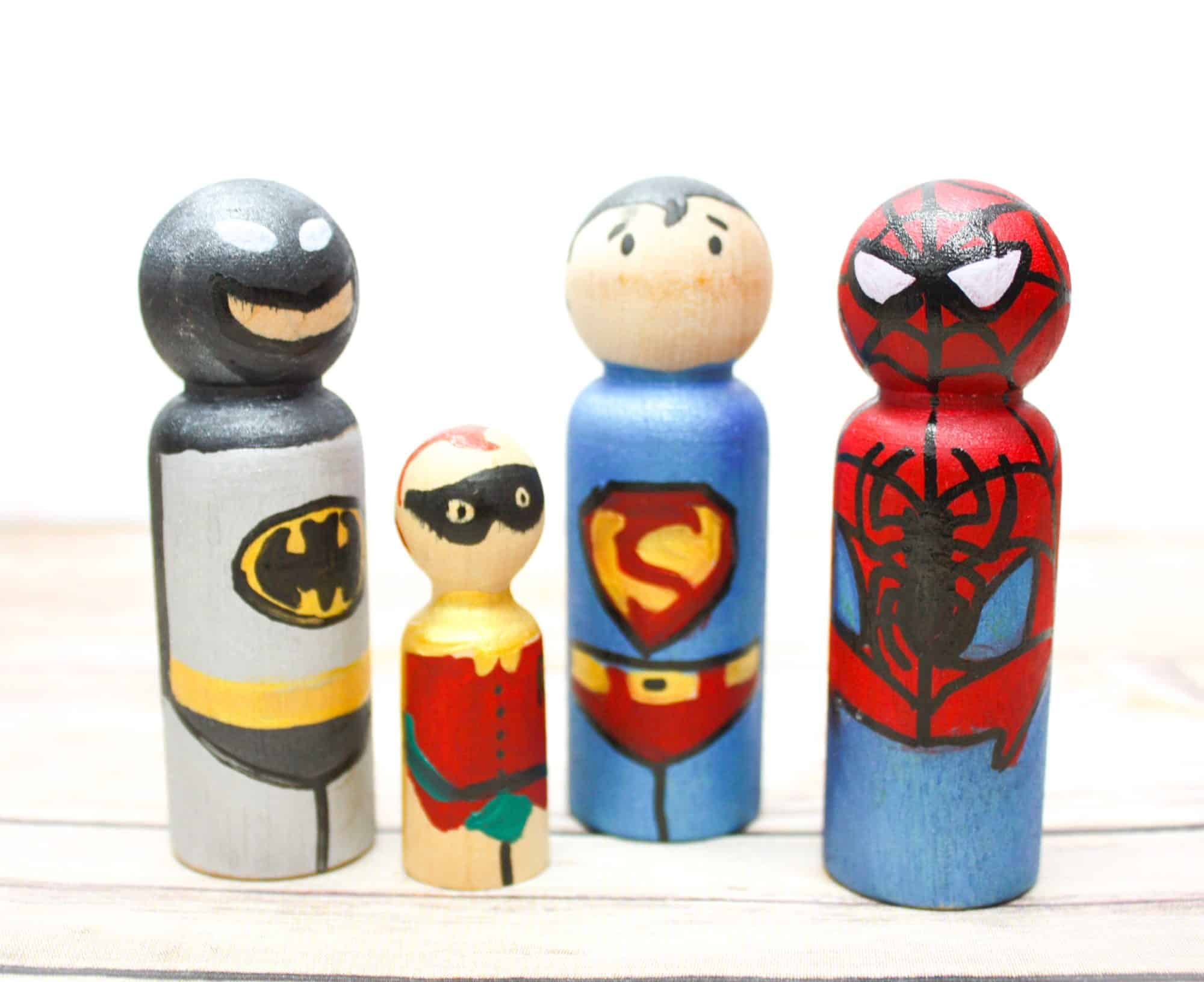 Wooden Superhero Peg Dolls: Simple DIY Toys