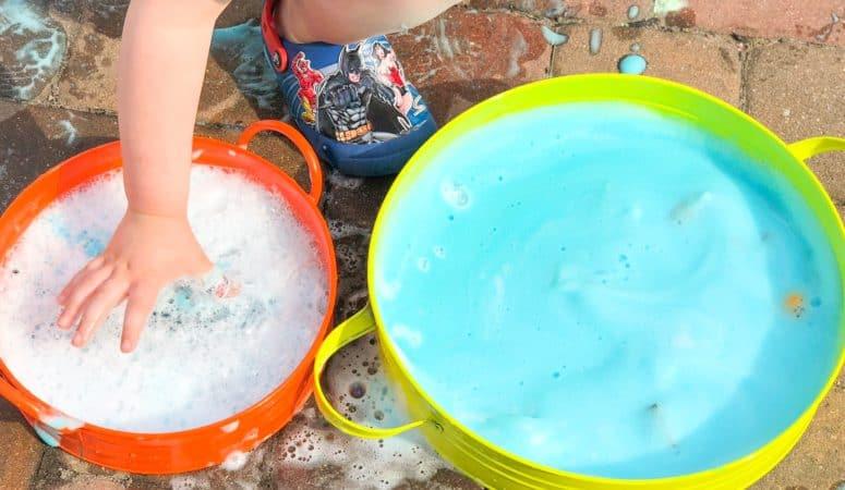 Ocean Soap Foam Sensory Bin