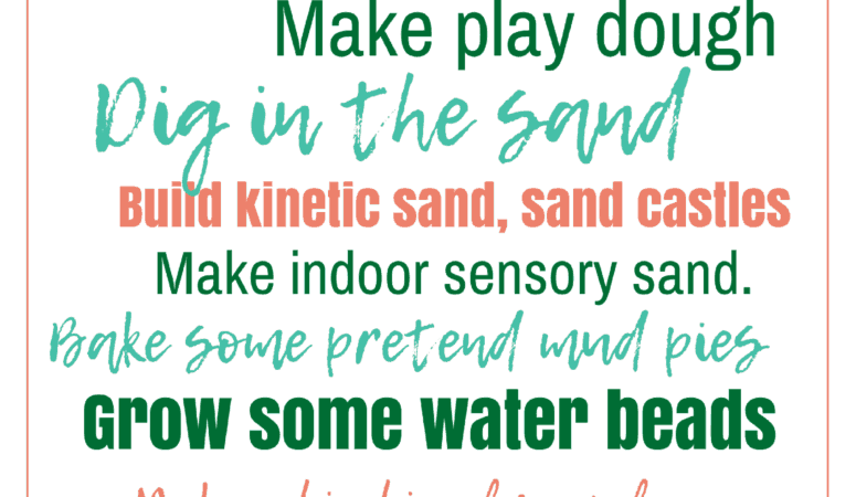 Summer Bucket List: Sensory Play for the Summer