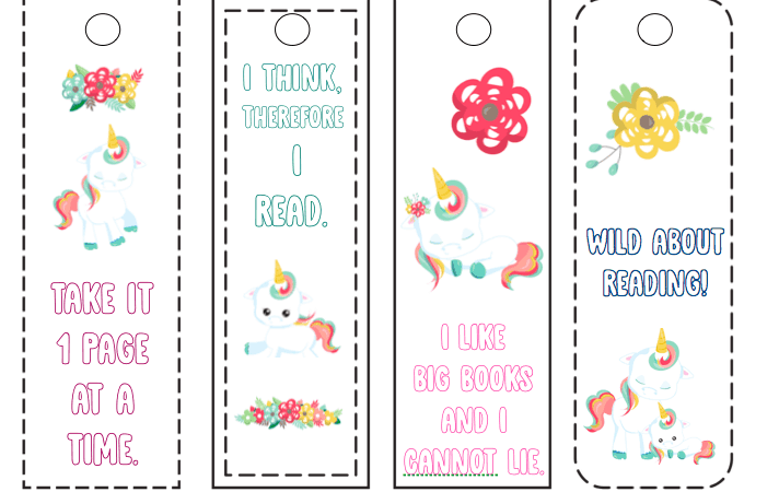 Free Printable Unicorn Bookmarks Kids Can Color