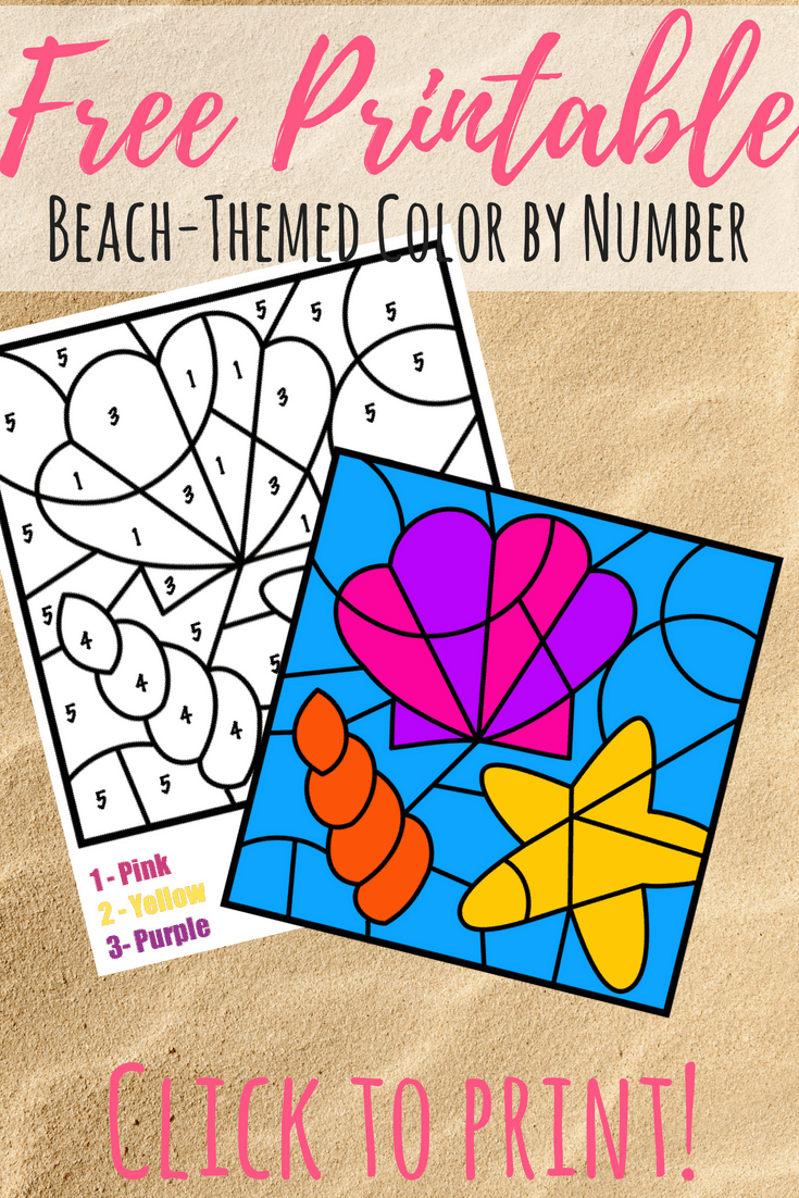 Free Color By Number Beach Printable - Views From a Step Stool