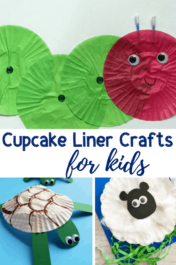 Fifteen adorable cupcake liner crafts for kids to make. Take this inexpensive household material and turn it into something really fun. #kidscrafts #kidsactivities #preschoolcrafts #parenting