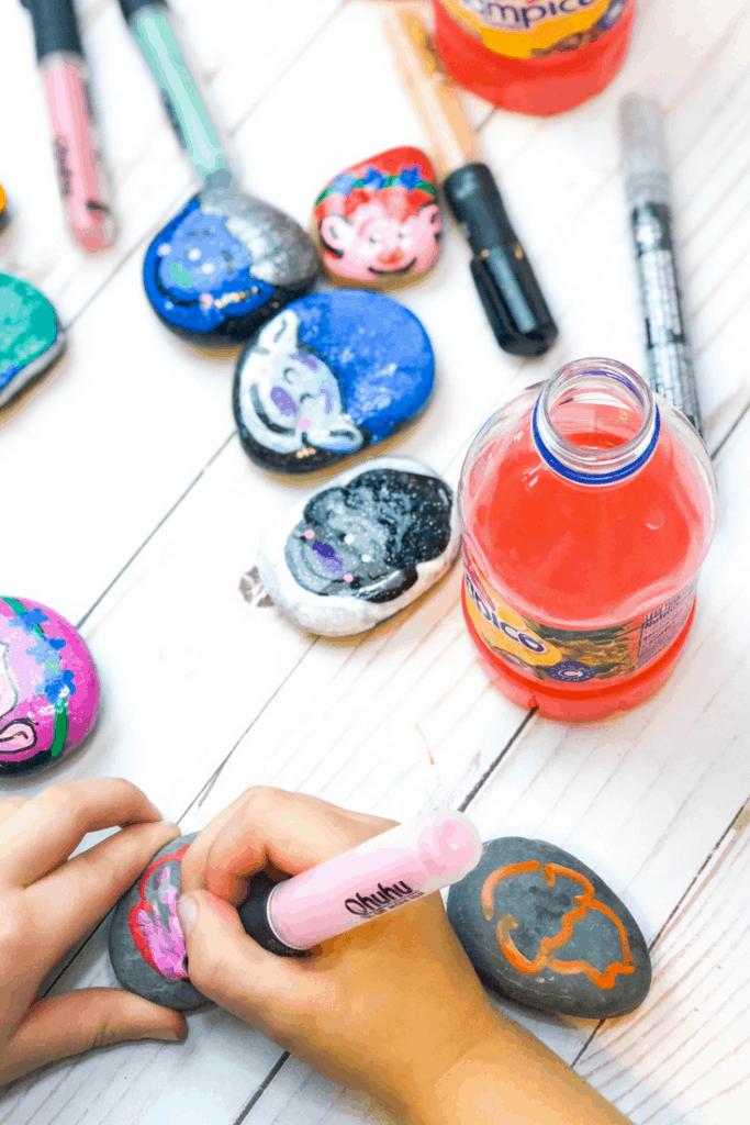 trolls painted rocks