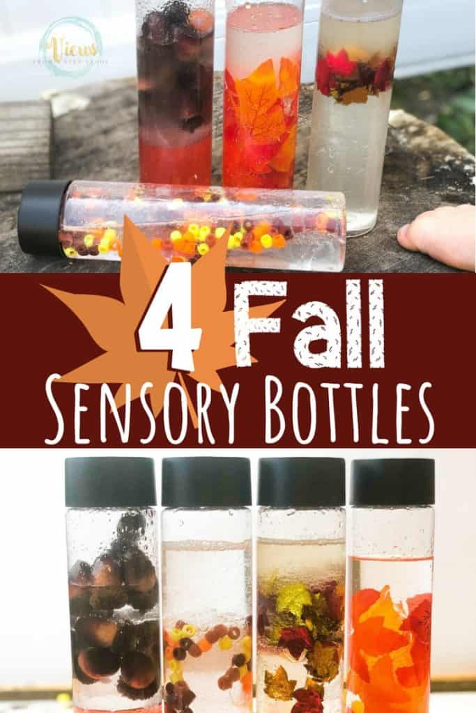 fall sensory bottles for babies and toddlers