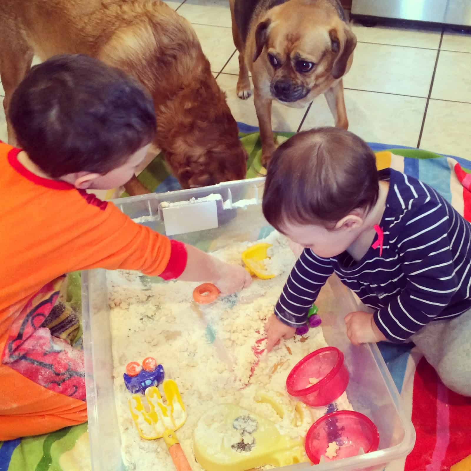 Edible Sensory Play: Indoor Sand