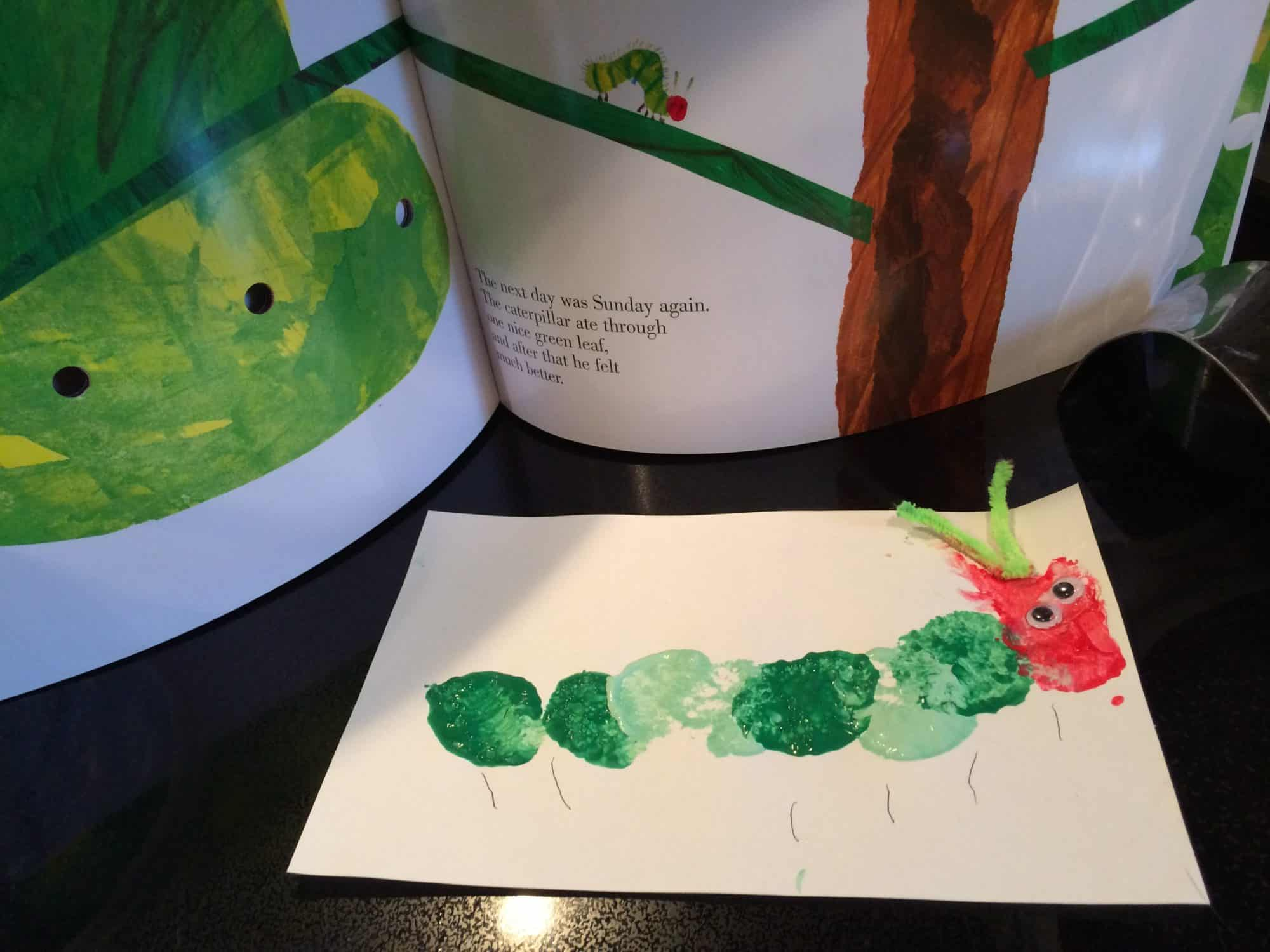 Very Hungry Caterpillar Craft: Invitation to Create