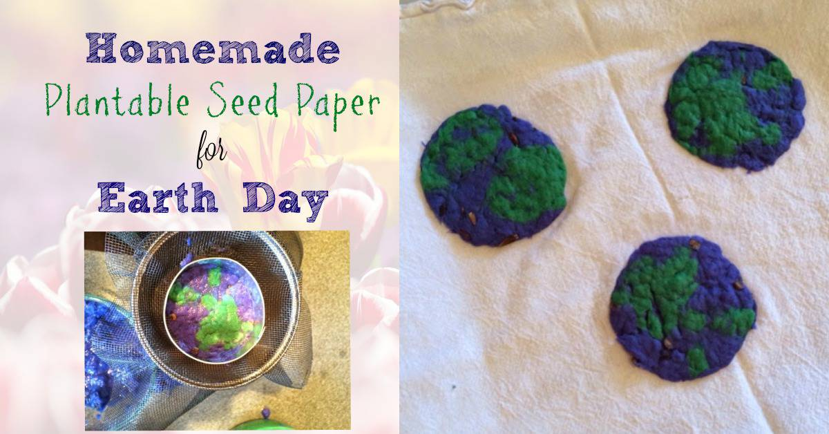 Homemade Plantable Seed Paper for Earth Day