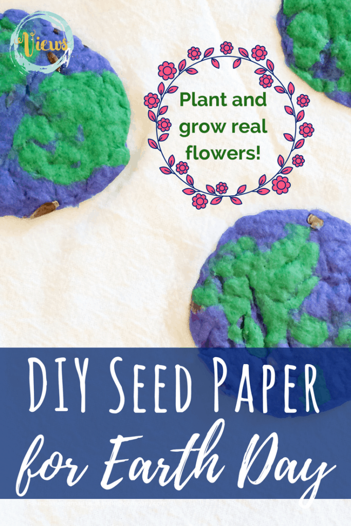 Plantable Seed Paper for Earth Day. Paper that looks like mini earths containing flower seeds