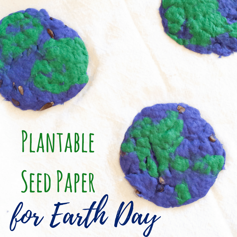 Did you know you can make your own, homemade plantable seed paper? What a way to celebrate Earth Day! A perfect Spring activity for kids.