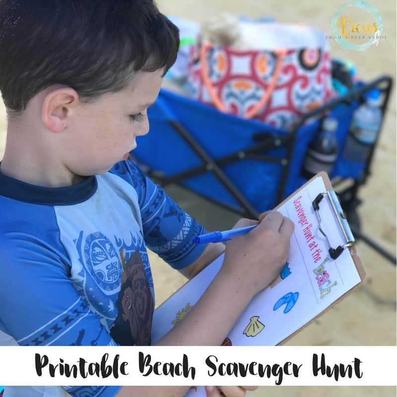 This beach scavenger hunt is perfect for all ages. Pictures only make it great for little ones who don't yet know how to read.