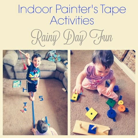8 Indoor Painter's Tape Activities: Rainy Day Fun