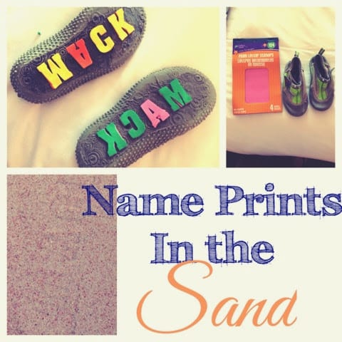 Name Prints in the Sand