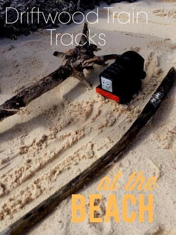 Driftwood Train Tracks at the Beach