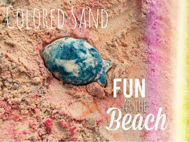 Making Colored Sand at the Beach