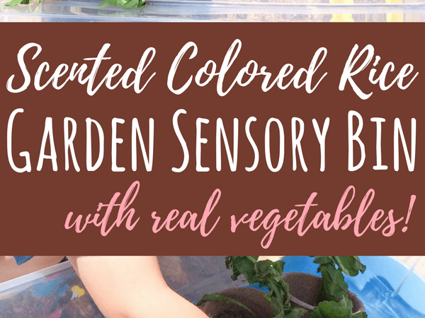 Garden Sensory Bin for Outdoor or Indoor Play