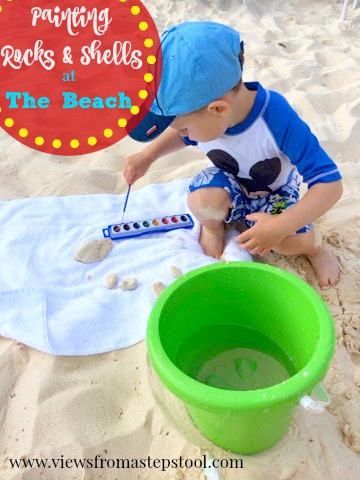 painting rocks and shells