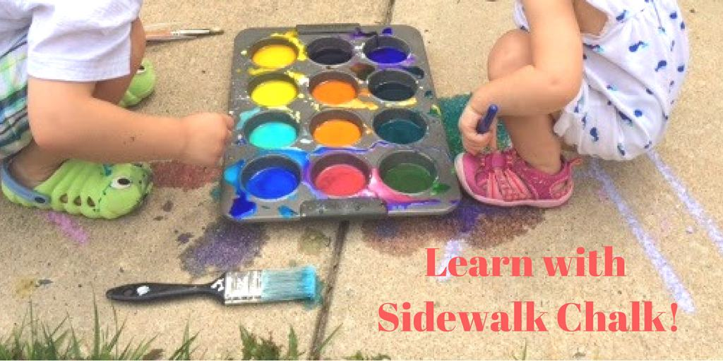 Learning with Sidewalk Chalk and Paint
