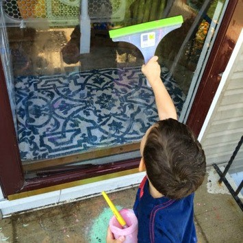 Homemade Window Paint: Kids Art Outdoors