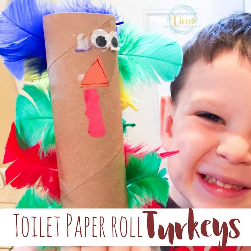 Toilet Paper roll turkeys fb