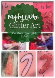 Crush up candy canes and use it as glitter to create fun works of art!