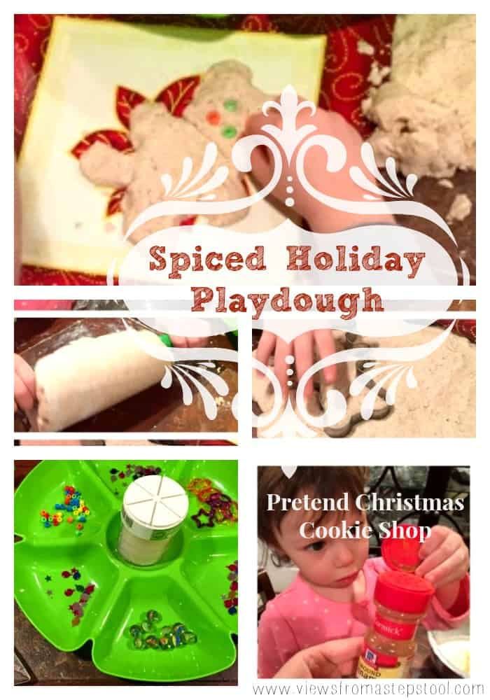 Gluten-Free Spiced Holiday Playdough: Pretend Cookie Shop