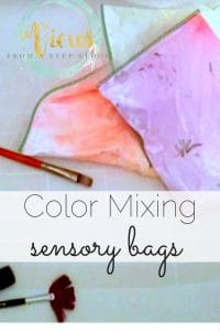 These color mixing sensory bags are perfect for preschoolers and toddlers, and combines sensory and science!