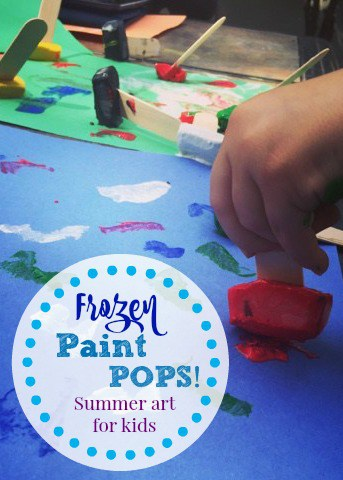 Frozen Paint Pops: Summer Art for Kids