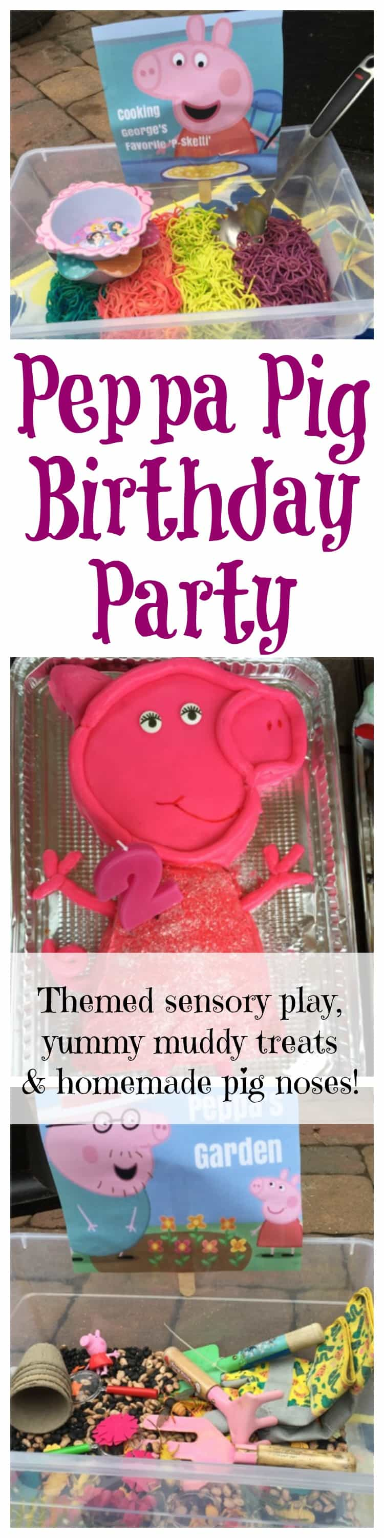 What kid wouldn't love this hands-on Peppa Pig birthday party?? From sensory play to yummy, muddy desserts, your little one will have a birthday to remember