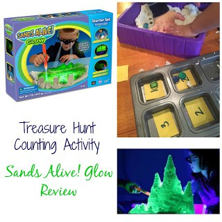 Treasure Hunt Counting Activity: Sands Alive! Glow by Play Visions Review