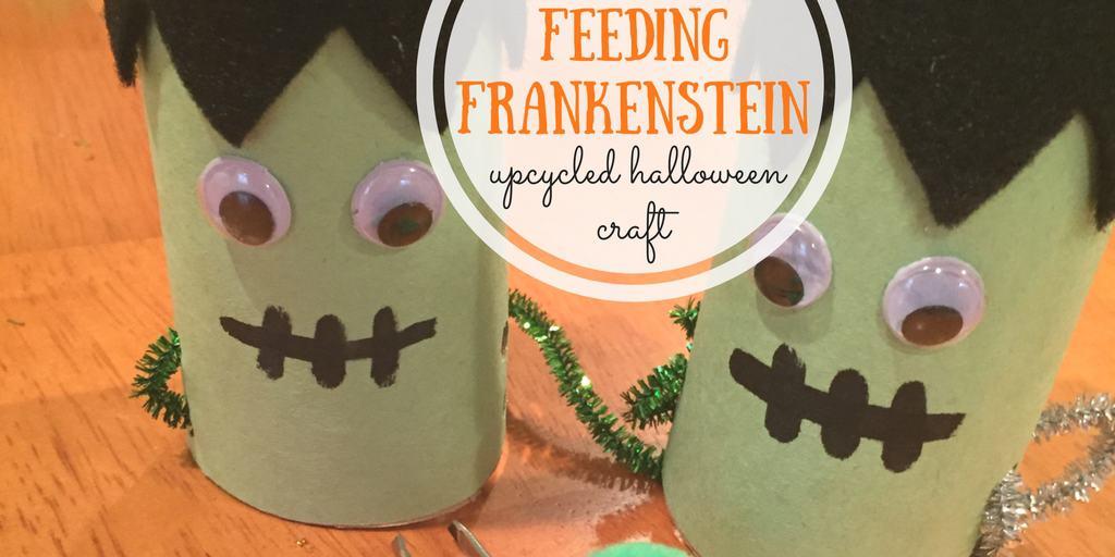 Feeding Frankenstein: Upcycled Halloween Craft
