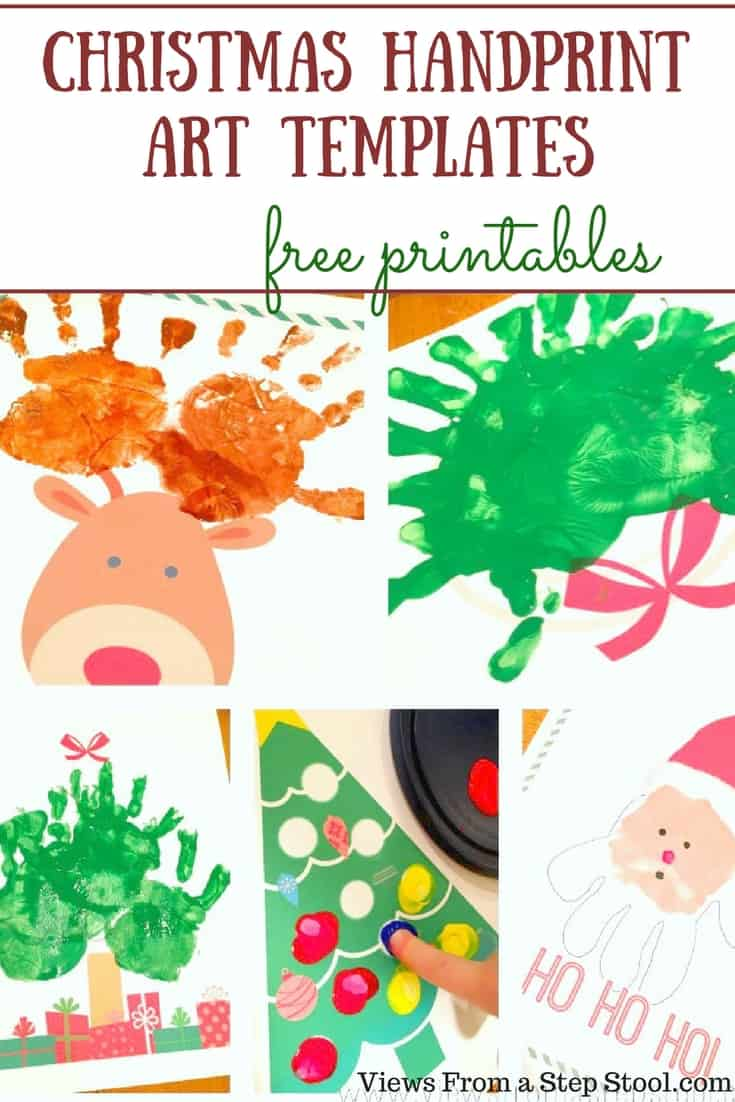 5 Christmas Handprint Art Templates for