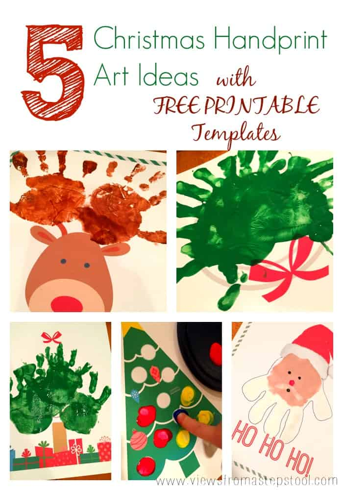 5 Christmas Handprint Art Printables: For Gifting, Decor, or FUN!
