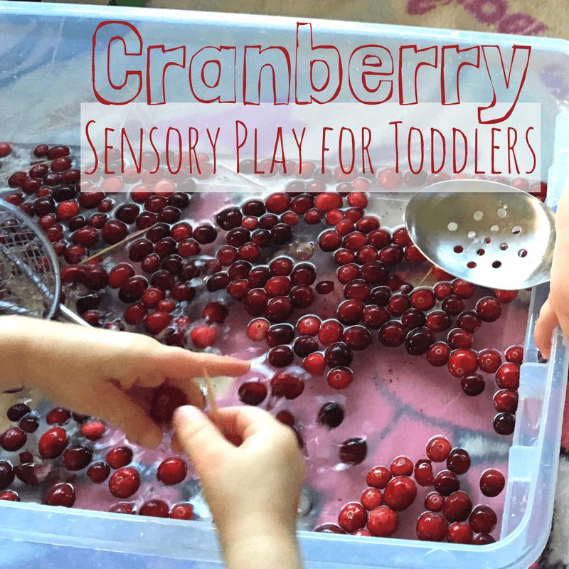 Cranberry sensory play square
