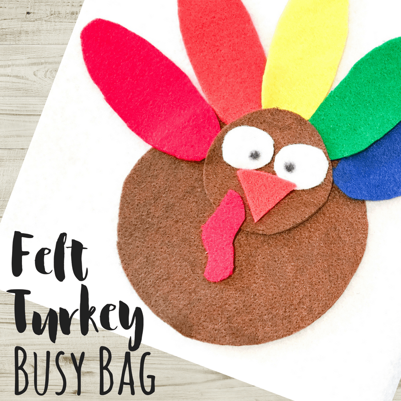 Felt Turkey busy bag square