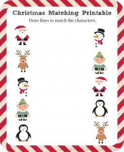 FREE Christmas Matching Printable