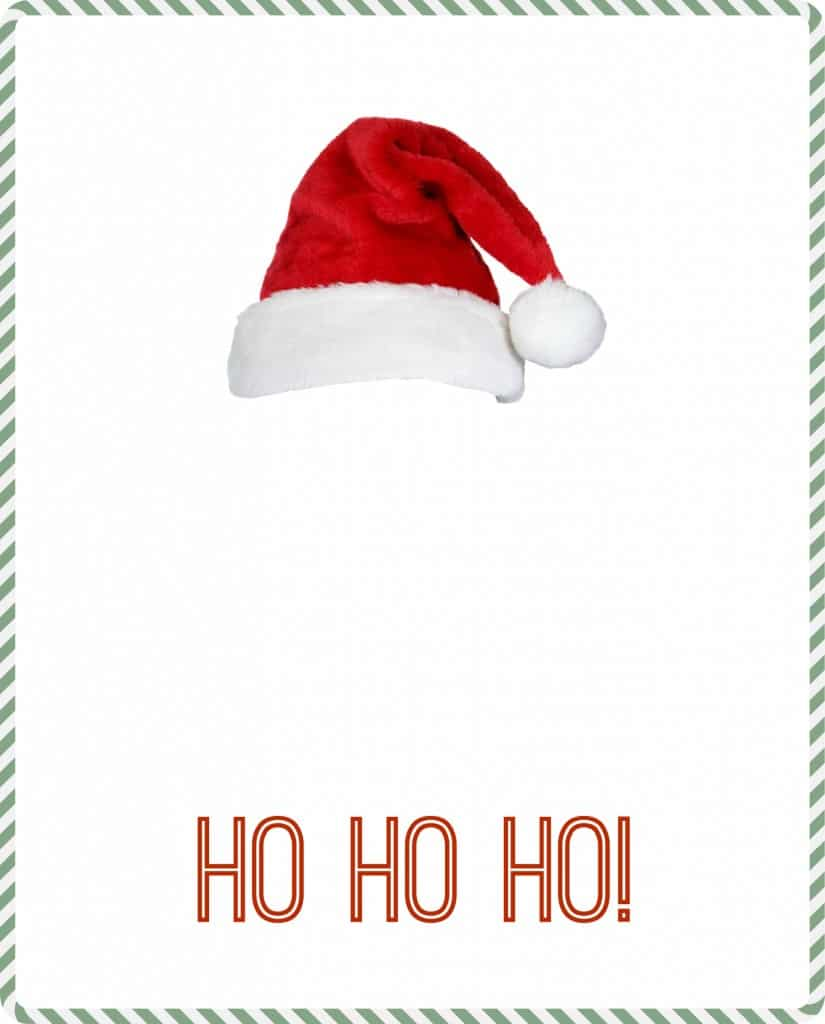 Make a very cute handprint Santa with this template!