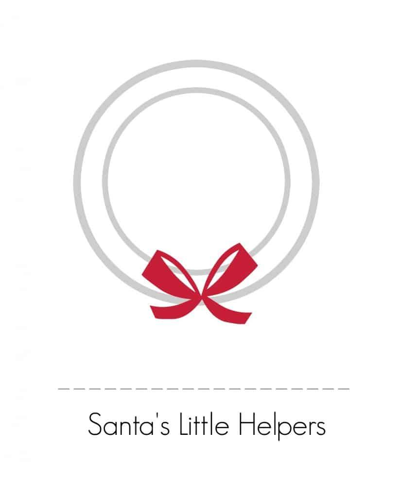 Use this printable to create an adorable handprint Christmas wreath!