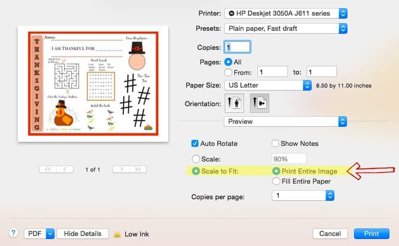 printer tip