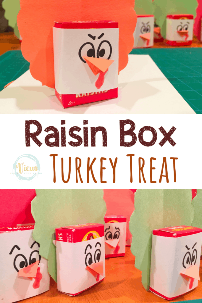 raisin box turkey thanksgiving treat pin 1