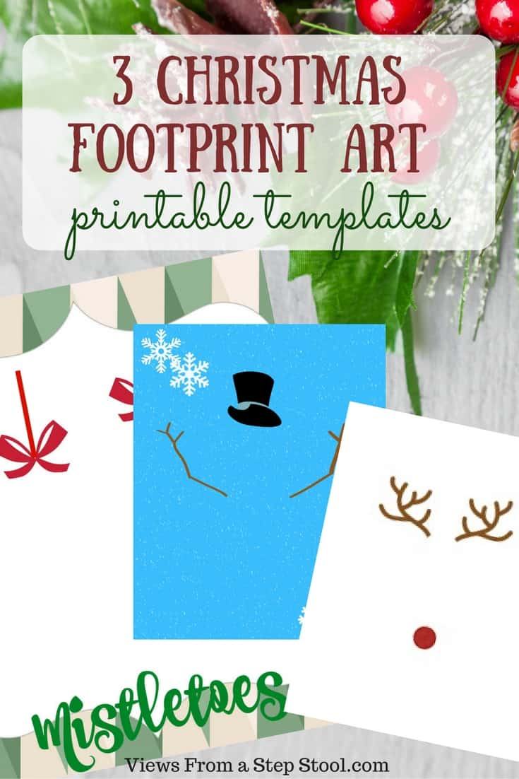 Free Printable Christmas Templates To Print.3 Christmas Footprint Art Templates Free Printables