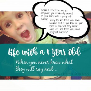 Preschoolers can say some of the funniest things. A year in review of some of my 4 year olds best quotes!