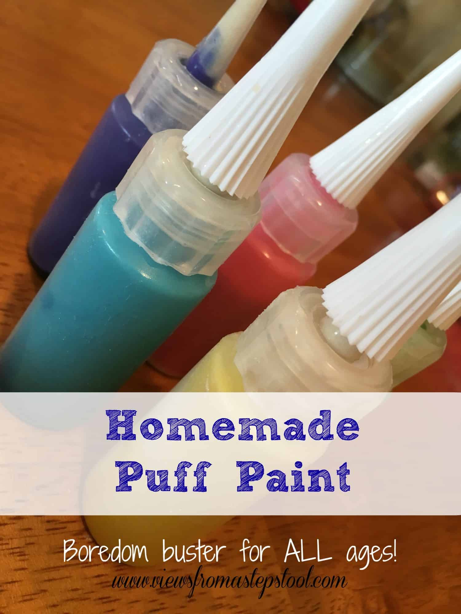 Homemade Puff Paint from Pantry Items