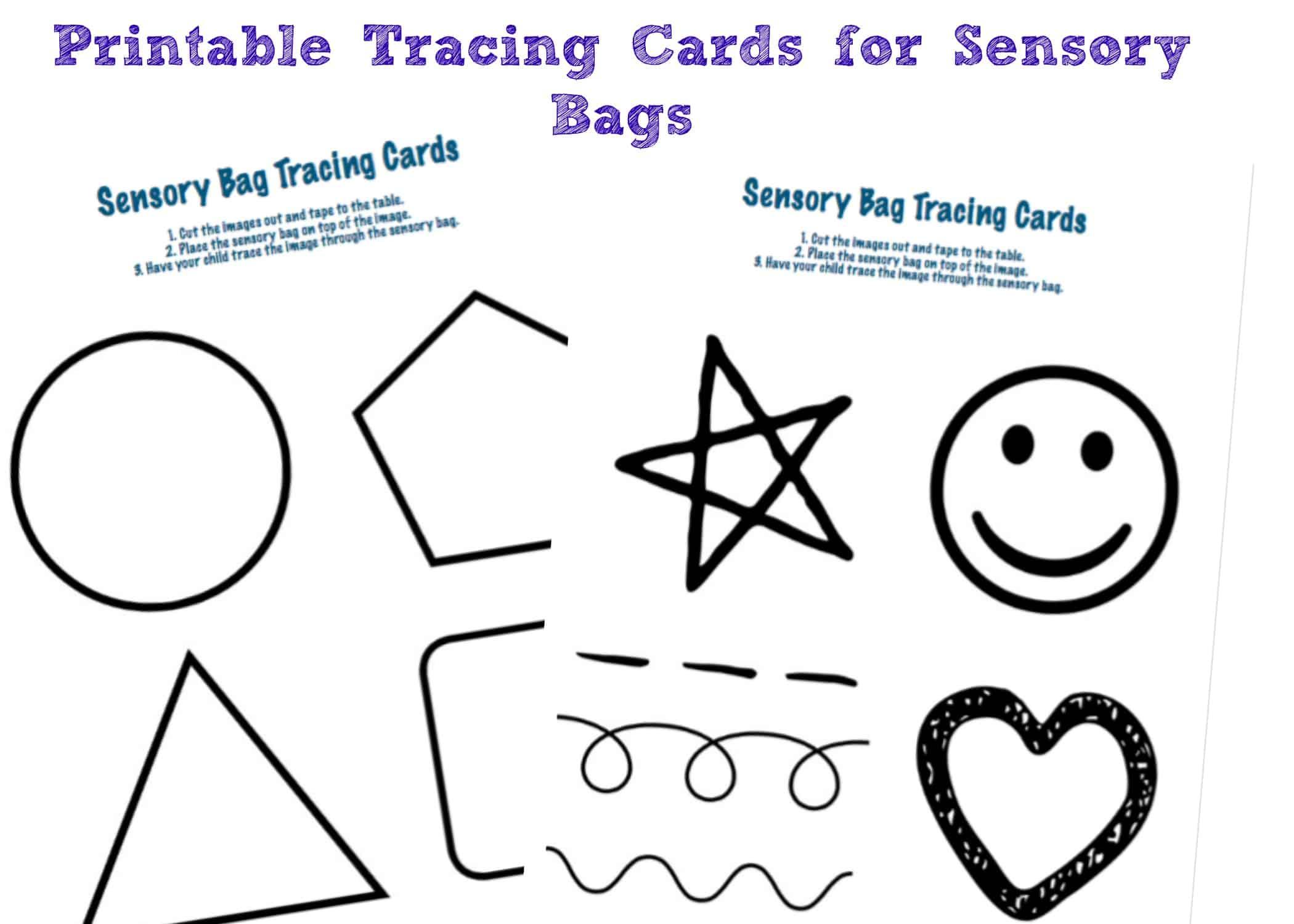 Sensory Bags Printable